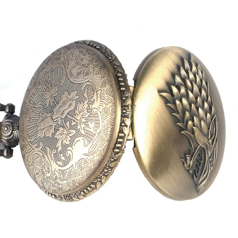 Купить с кэшбэком Antique Grey/Bronze Wolf Design Quartz Necklace Pocket Watch Souvenir Pendant Watches Unique Gifts Unisex Fob Clock
