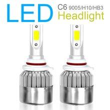 2pcs Car accessories 9005 H10 HB3 C6 10800LM  6000K 120W COB LED Car Headlight Kit Hi or Lo Light Bulbs for Auto Car Vehicles