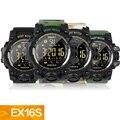 Смарт-часы EX16S камуфляжные спортивные часы водонепроницаемые дизайнерские фитнес-трекер шагомер 1 год сильная батарея bluetooth