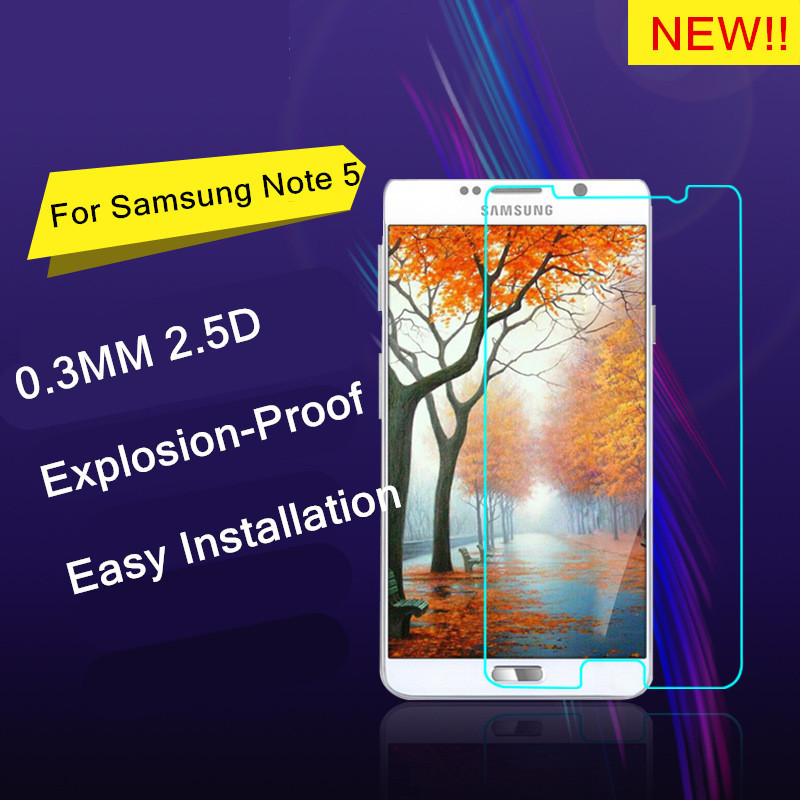 9H Explosion-proof Tempered Glass Screen Protector Guard film for samsung GALAXY Note 5 Note5 /N9200/N920 5.7 inch+safe package