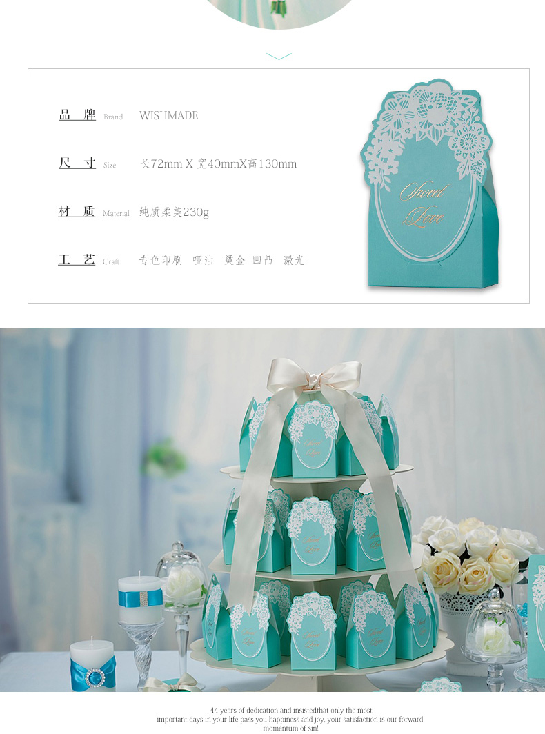 Laser Cut Candy Box Flower Lace Gift Boxes Tiffany Blue Wedding ...