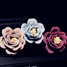 New 4 pcs Delicate Matte Flowers Car Air Conditioning Outlet Perfume Freshener car A/C outlet perfume clip decorations