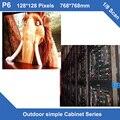 Заказ СВЕТОДИОДНЫЙ Дисплей Размер Экрана LED ТЕЛЕВИЗОР открытый P6 фиксированная установка простой железного Шкафа, 768 мм * 768 мм 128*128 точек 1/8 сканирования