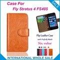 Hot! 2016 Fly FS405 caso, 6 cores de alta qualidade de couro caso exclusivo para Fly Stratus 4 FS405 capa Bag telefone de rastreamento