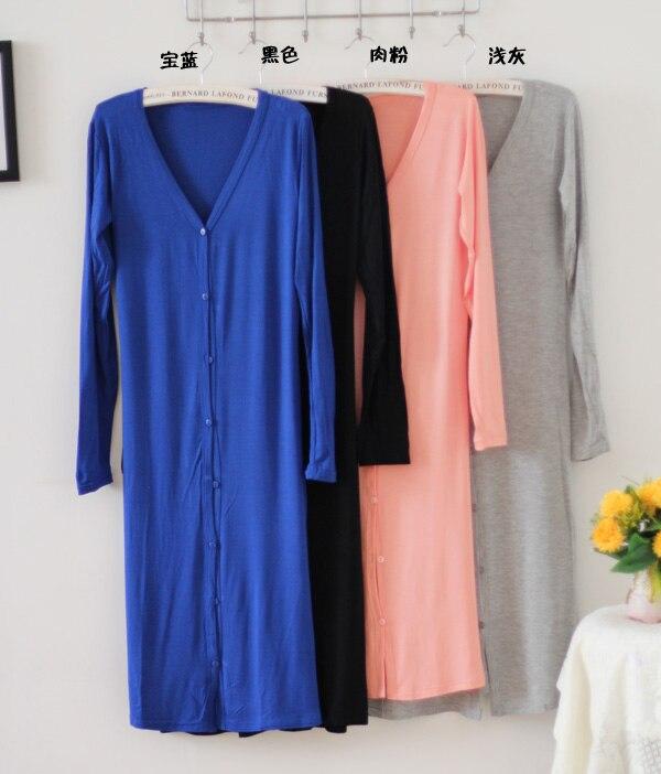 ALI shop ...  ... 32706541551 ... 5 ... 2019 Spring Thin Kimono Long Cardigan 12 Colors Modal Gilet Femme Manche Longue Women Outerwear Cardigans Coats Black Gray Coat ...