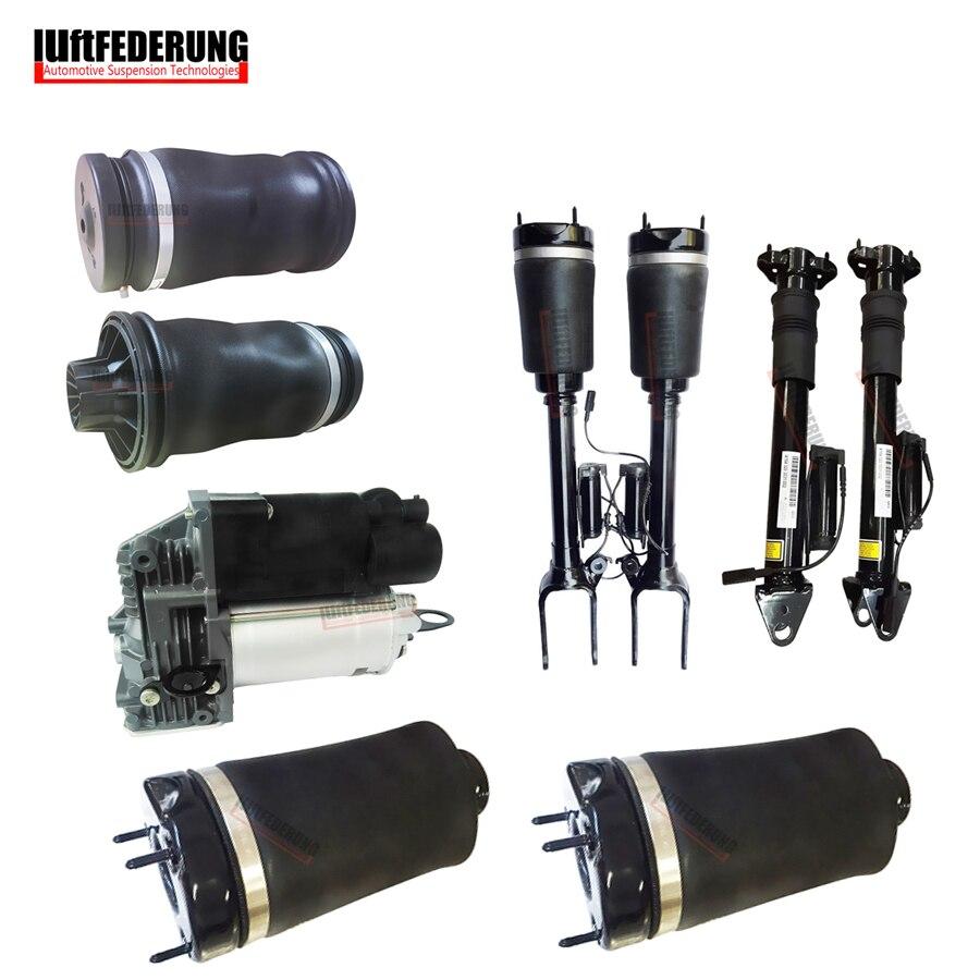 Luftfederung 9 STÜCKE Mercedes W164 GL Luftfeder Luftfederung Luftpumpe Luftfederung airmatic Air Ride Stoßdämpfer 1643206013