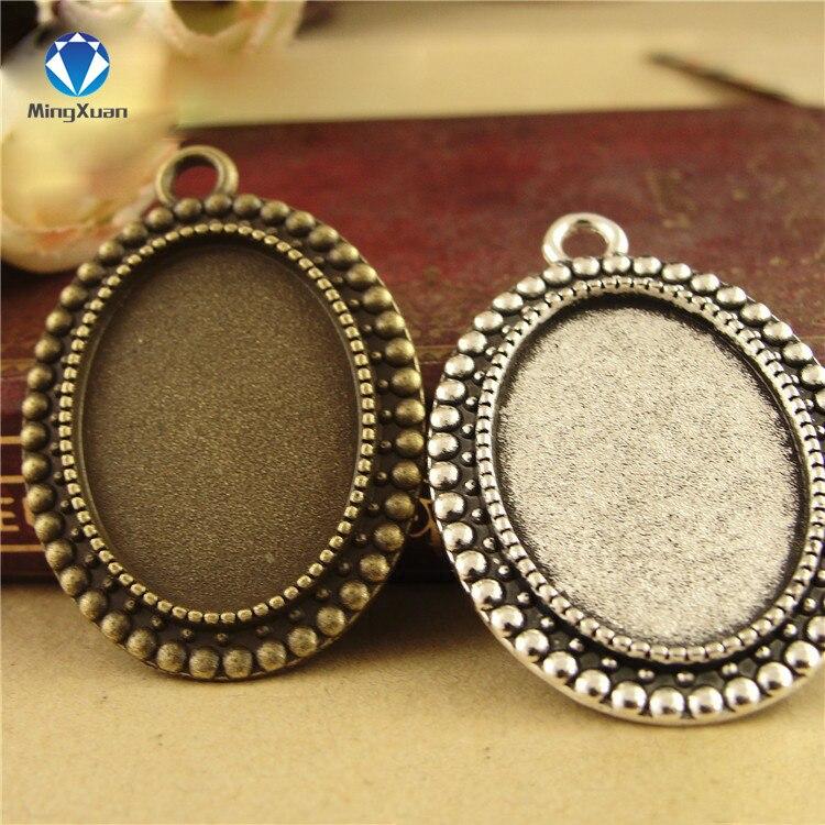 Купить 10 шт/лот античная бронза камея основа кабошона овальные заготовки