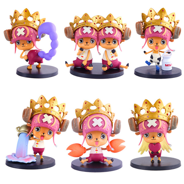 6pcs Set Anime One Piece Zodiac Star Signs Series Tony Chopper Pvc