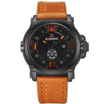 2020 New NAVIFORCE Sport Mens Watches Top Brand Luxury Waterproof Leather Quartz Military Wristwatch Male Clock Relogio Hot Sale 2