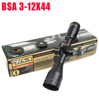 Охота оптика достопримечательности БСА Эфирное AR 3 12X44 SP прицел Mil точка сетка боковые Параллакс тактический съемки прицел