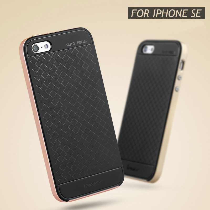 online store 04344 75caf For Apple iphone 5 5s se quality ipaky brand anti knock case for iphone  se/5s soft silicone back cover case-in Fitted Cases from Cellphones & ...