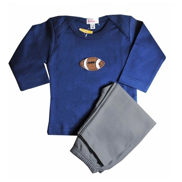 Loralin Design BNF6 Football Outfit – Blue 6-12 Months