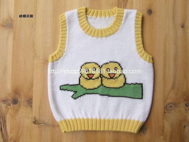 c413fe9ec Hand Knitted Baby Wool Vest Baby Girls Boys Cartoon Jacket For Kids ...