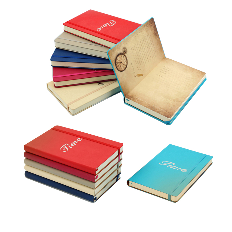 notepad A5 leather business notebook portable simple color book student stationery thickening functional notebook цена