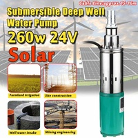 Professional 260W DC 24V 40m 1200L/h Submersible Solar Water Pump Deep Well Irrigation Garden Home Agricultural High Power