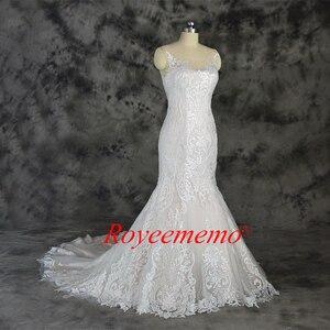Image 3 - Champagne e avorio speciale di disegno del merletto vestito da cerimonia nuziale classico di stile della sirena abito da sposa su ordine della fabbrica di prezzi allingrosso