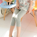 Maternity belly pants skinny capris pants cotton summer plus size for pregnancy women`s elastic waist knee length leggings