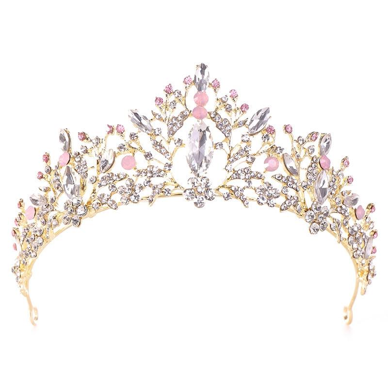Wedding Queen Crown Hair Jewelry Rhinestones Tiaras Bride Hairband Wedding Accessories