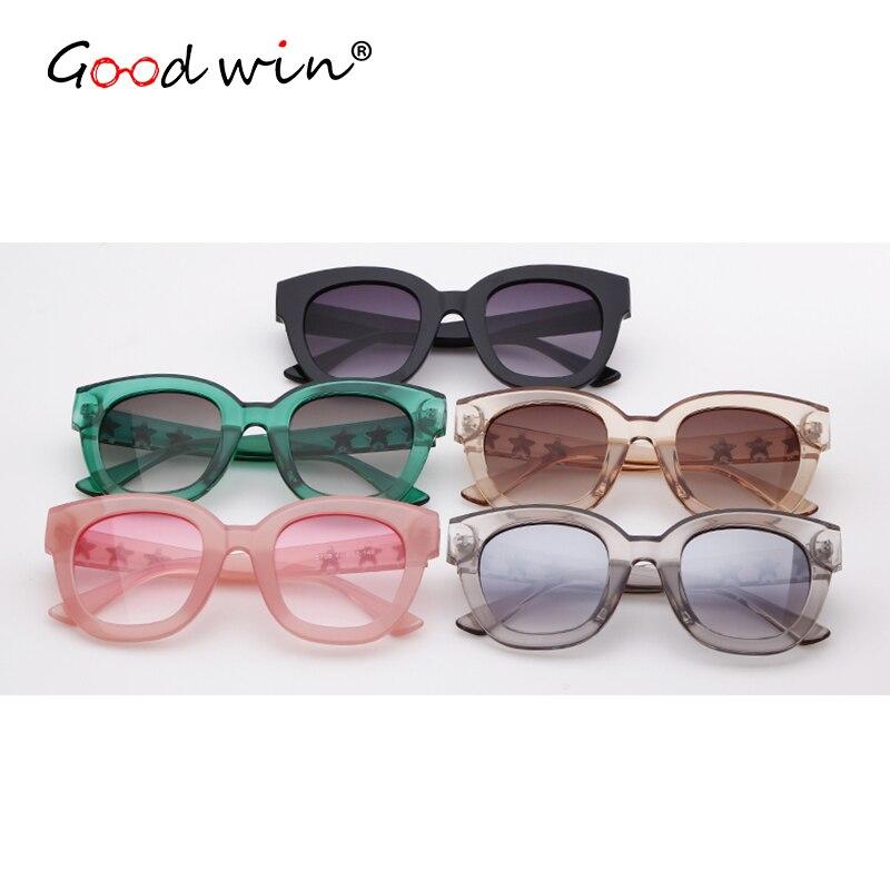 GOOD WIN 2018 Oversized Crystal Women Sunglasses Studded with Stars Ladies Sun Glasses Black Grey Big Frame UV Shades