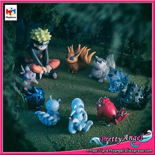 PrettyAngel - Genuine MegaHouse G.E.M. Naruto Naruto & Bijuu Complete Figure 100% original megahouse g e m remix complete figure uzumaki naruto