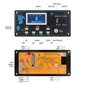 Image 4 - DC 9 12V samochód MP3 AudioDecoder pokładzie bluetooth USB SD FM AUX dekodowanie plików WMA MP3 moduł DIY głośnik Amp domu teatr