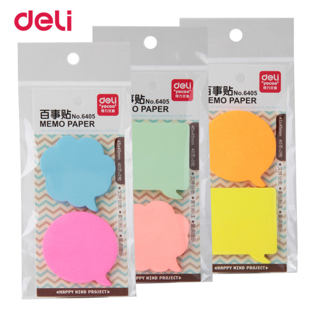80 Sheets Korean Sticky Notes Creative Post Notepad Memo Pads Office Supplies School Stationery Scratch WJ-SMTP197
