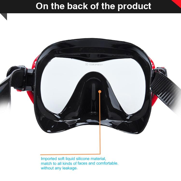 Profesjonalna silikonowa maska nurkowa Podwodne łowiectwo - Sporty wodne - Zdjęcie 5