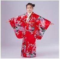 National Trends Japanese Baby Girl Kimono Dress Traditional Children Yukata Kid Girl Dance Costumes Child Cosplay Dress