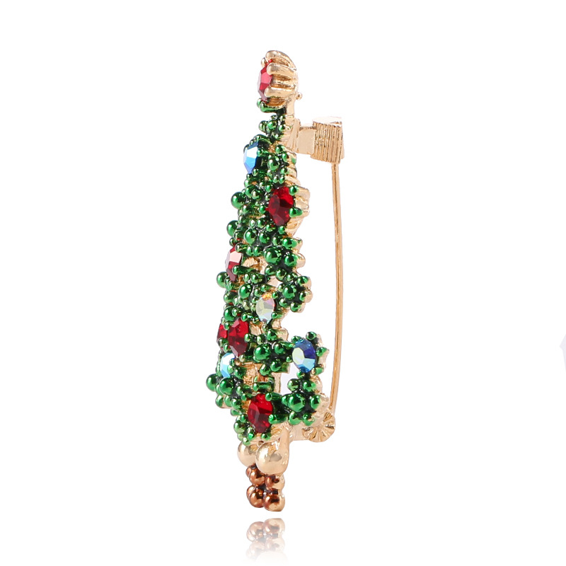CINDY XIANG Cute Green Paint Christmas Tree Brooches for Women Fashion Gift Pins Jewelry Dress Sweater Accessories New Arrival in Brooches from Jewelry Accessories