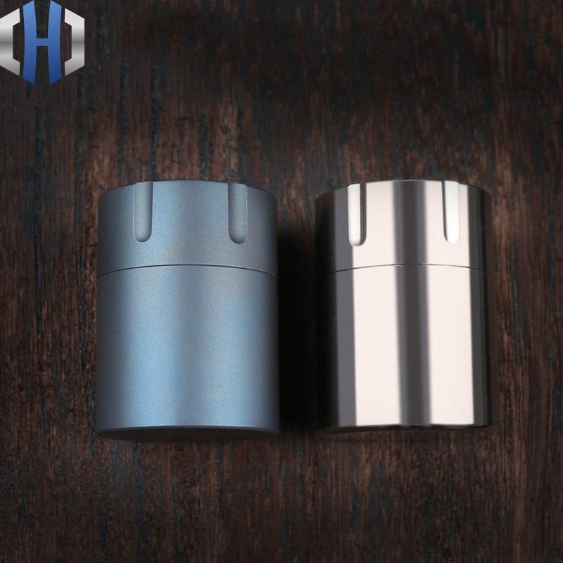 CNC Pure Titanium Waterproof Storage Tank Sealed Tank Titanium Alloy High-end Portable Medicine Box Outdoor EDC