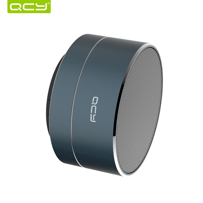 QCY wireless speaker metal mini portable bluetooth subwoof sound with Mic support TF card FM radio AUX for xiaomi iphone xiaomi mini bluetooth speaker full metal case with mic