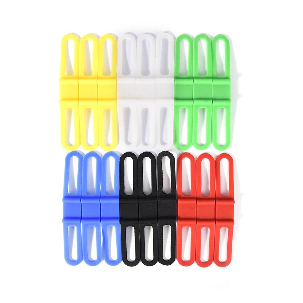 3PCs Bike Light Handlebar Silicone Strap Bicycle Light Mount Flashlight Phone Fixing Bands Elastic Bandage Holder Accessories