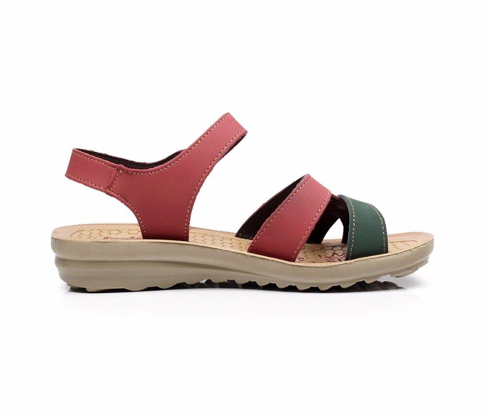 Image 4 - GKTINOO/летние женские сандалии; удобные женские туфли; пляжная обувь; сандалии гладиаторы; женские повседневные сандалии на плоской подошве; модная обувьБоссоножки и сандалии   -