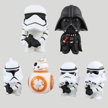 6pcs/Lot Star 7 Toys Darth Vader+Stormtrooper+BB-8 Aciton Figures Anime PVC Dolls Kids Toys Boys NewYear Gift Desktop Decor