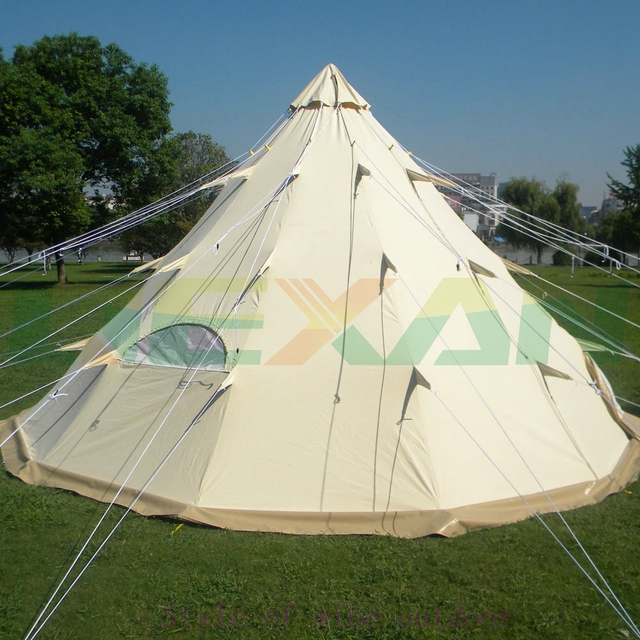 2017 new canvas tent family c&ing tent Canvas Teepee Tent TIPI500 & 2017 new canvas tent family camping tent Canvas Teepee Tent ...