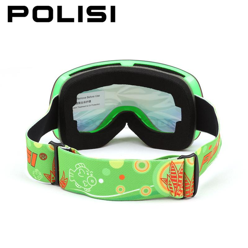c2f15e5690 POLISI Winter Ski Snow Goggles UV400 Outdoor Sport Snowboard Protective  Eyewear Children Kids Double Layer Anti Fog Lens Glasses-in Skiing Eyewear  from ...