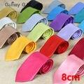 Los nuevos Hombres Sólidos lazos 8 cm corbatas Corbatas para Hombre 31 colores Marca casual Male para la boda del envío libre