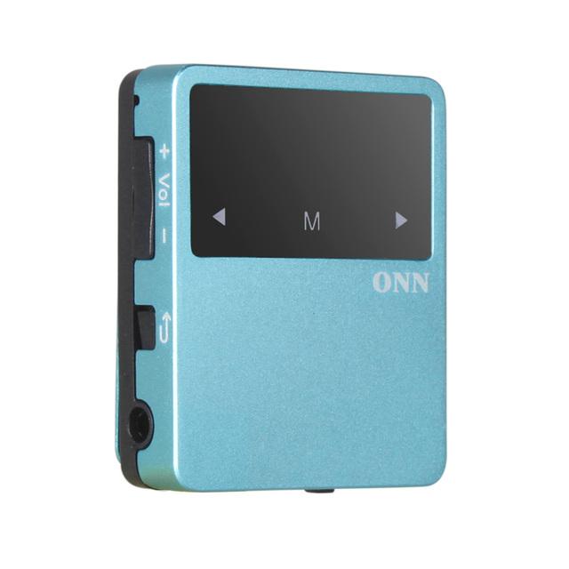 ONN X1 8 GB sport Clip reproductor de mp3 con la Radio de FM, bluetooth, podómetro de múltiples funcation