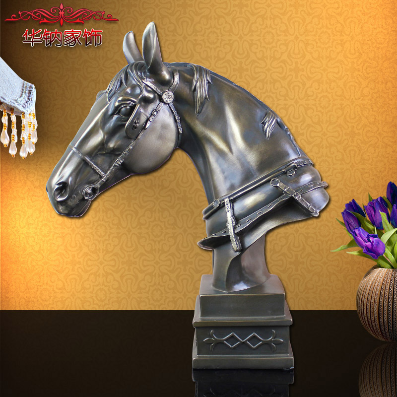 2016 Special Offer New Horse Ornaments Opening Housewarming Gift Home Living Room Decor Resin Crafts casamento pet cozinha