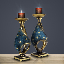 2pcs/set European retro Candle Holder Romantic candlelight dinner props Creative tabletop candlestick Home Wedding Decorations