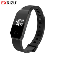 EXRIZU Smart Wristband Bracelet Band IP67 OLED Touch Screen Heart Rate & Blood Pressure Monitor Time Date SYNC Call/SMS Reminder