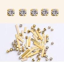 1 BOX Gold/Silver Nail Art Rivet Studs 3D Decorations Rectangles Alloy Metal Manicure DIY Rivets Body