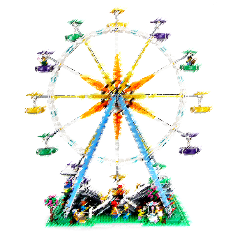 2518 sztuk miasto Expert diabelski młyn modelu budynku zestawy bloki klocki zabawne zabawki Kompatibel 10247 dla dzieci w Klocki od Zabawki i hobby na  Grupa 1