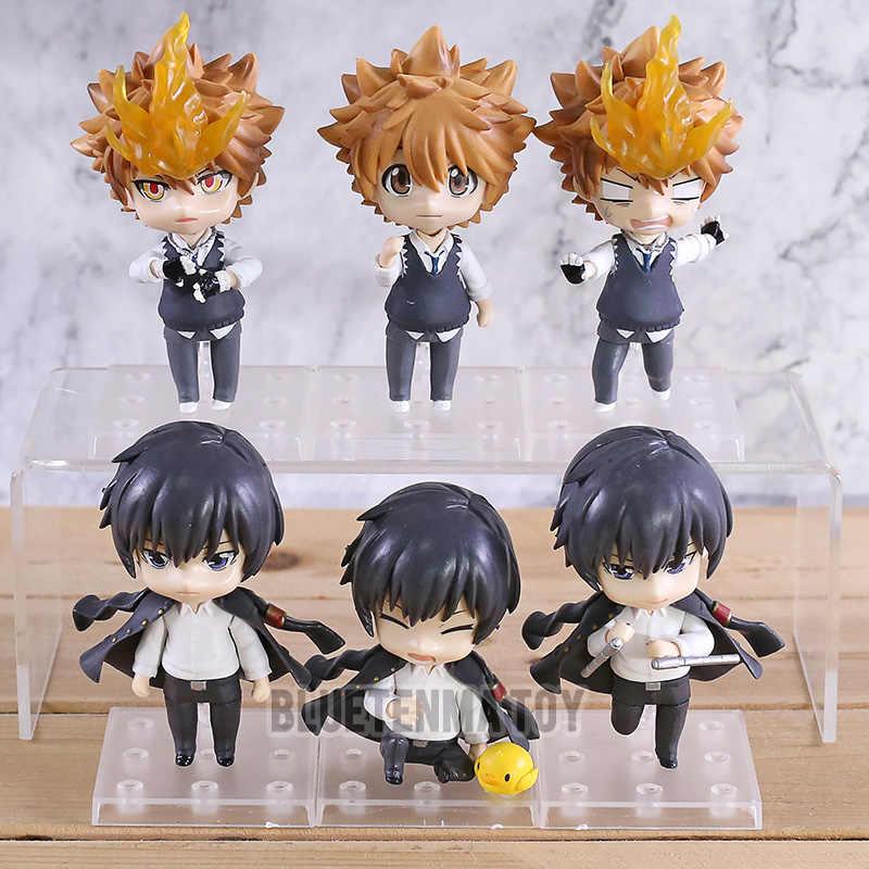 3 adet/takım karikatür Katekyo Hitman Reborn Sawada Sawada Hibari Kyoya PVC aksiyon figürleri modeli oyuncak hediye