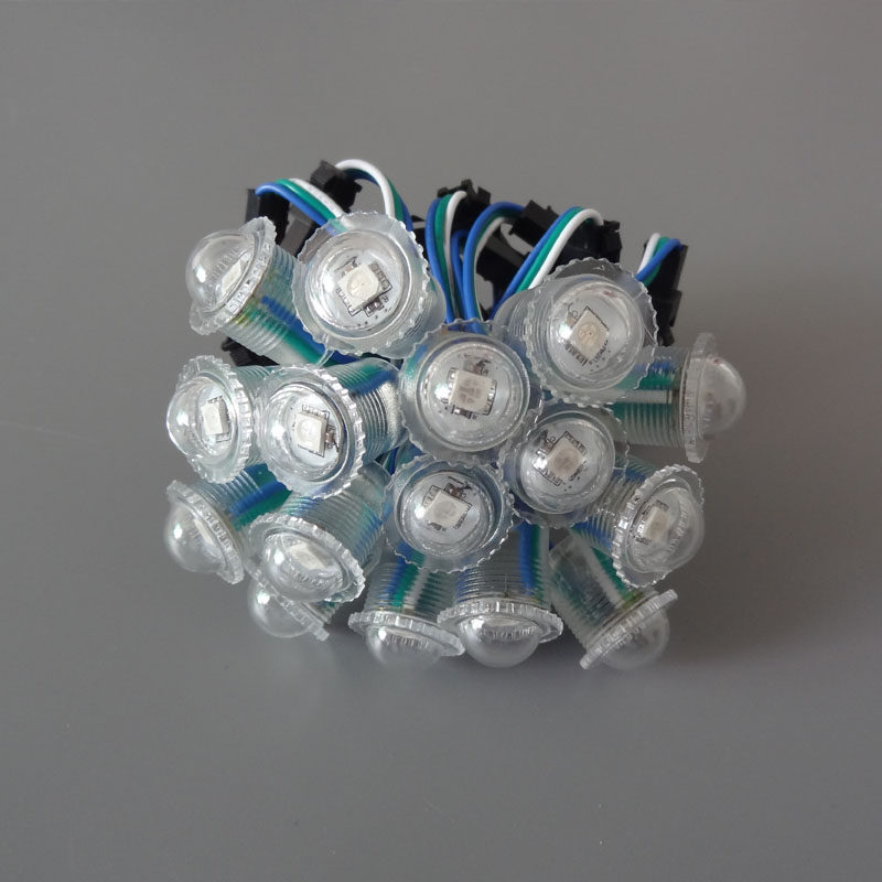 Pixel LED Module WS2811 DC5V 16mm diameter Full Color 5050 SMD Programmable Modules led light for signage transparent Cover