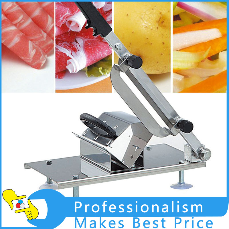 Stainless Steel Manual Meat Slicer Commercial Meat Cutting Machine kitchen Tool