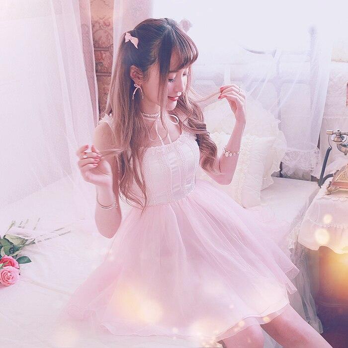Księżniczka słodki lolita Bobon21 wędzidełka balet grenadyny sukienka z jednego kawałka D1478 w Suknie od Odzież damska na  Grupa 1
