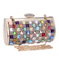 Colorful Diamond Evening Clutch Bags Lady Stunning Bling Crystal Dinner Banquet Bag/Clutch Purse/Bridal Holding Wedding Bag 1047