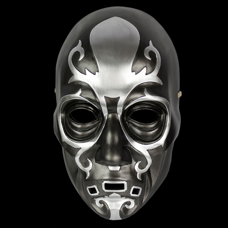 Mask the Movie Theme Harry Potter Death Eaters for Party Halloween Christmas Cosplay Resin Mask Adults Full Face Black & SilverMask the Movie Theme Harry Potter Death Eaters for Party Halloween Christmas Cosplay Resin Mask Adults Full Face Black & Silver