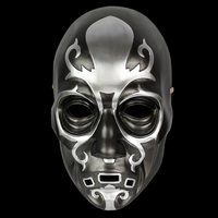 Mask the Movie Theme Harry Potter Death Eaters for Party Halloween Christmas Cosplay Resin Mask Adults Full Face Black & Silver